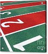 Athletic Track Markings With Numbers Acrylic Print