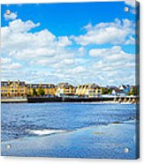 Athlone City And Shannon River Acrylic Print by Gabriela Insuratelu