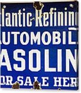 Atlantic Refining Co Sign Acrylic Print