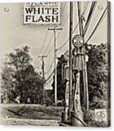 Atlantic White Flash Acrylic Print