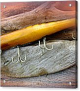 Atom A40 Vintage Saltwater Lure - Whiting Gold Acrylic Print