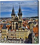 Atop The Clock Tower - Prague Acrylic Print