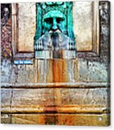 Au Non Potable A Fountain In Arles Acrylic Print