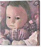 Aubrey Acrylic Print by Lyn Vic