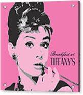 Audrey Hepburn - Pop Art Portrait Acrylic Print