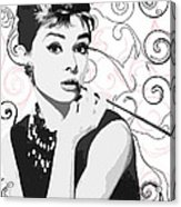 Audrey With A Twist Acrylic Print