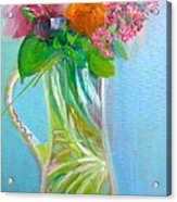 August Bouquet Acrylic Print