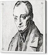 Auguste Comte, French Philosopher Acrylic Print