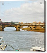 Augustus Bridge Dresden Germany Acrylic Print