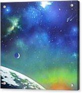 Auroa Borealis From Space Acrylic Print