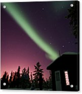 Aurora Borealis Above Cabin, Northwest Acrylic Print