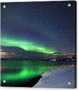 Aurora Borealis Over Vagsfjorden Acrylic Print