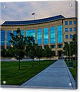 Aurora Municipal Center Hdr Acrylic Print by Sergio Aguayo