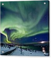Aurora Over The Road Acrylic Print by Frank Olsen