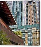 Austin Condo Towers - Hdr Acrylic Print