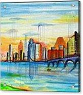 Austin Texas Acrylic Print by Jose J Montee Montejano