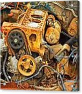Auto Engine Block From A Wrecked Car Acrylic Print
