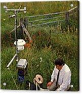 Automated Weather Monitoring Station Acrylic Print