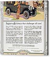 Automobile Ad, 1926 Acrylic Print