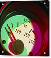 Automobile Oil Temperature Gauge; Low Temperature Acrylic Print