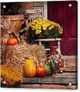Autumn - Gourd - Autumn Preparations Acrylic Print by Mike Savad