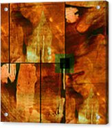 Autumn Abstracton Acrylic Print by Ann Powell