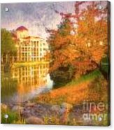 Autumn And Architecture Acrylic Print