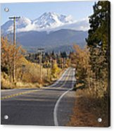 Autumn And Mt Shasta Down The Road Acrylic Print