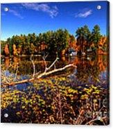 Autumn At Bomoseen Lake  Acrylic Print