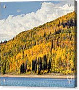Autumn At Huntington Reservoir - Wasatch Plateau - Utah Acrylic Print