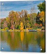 Autumn At Mill Pond Park Acrylic Print by Luba Citrin