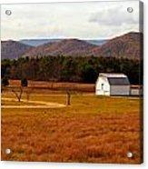 Autumn Barn In Green Bank Wv Acrylic Print