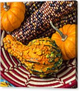 Autumn Basket  Acrylic Print by Garry Gay