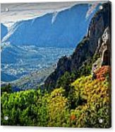 Autumn Below Evergreen Hills  Acrylic Print