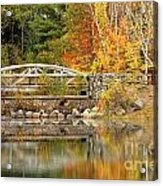 Autumn Bridge Acrylic Print