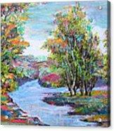 Autumn Brilliant Color Acrylic Print