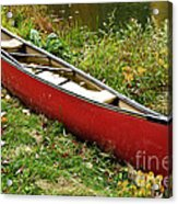 Autumn Canoe Acrylic Print by Thomas R Fletcher