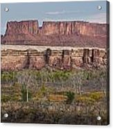 Autumn Colors On The Green River Acrylic Print