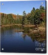 Autumn Day At The Lake In Algonquin Provincial Park Acrylic Print