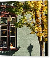 Autumn Detail In Old Town Grants Pass Acrylic Print