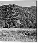 Autumn Farm Monochrome Acrylic Print