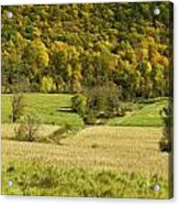 Autumn Farm Vista Acrylic Print