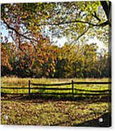 Autumn Field In Pennsylvania Acrylic Print