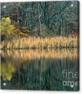 Autumn Fisherman Reflections Acrylic Print