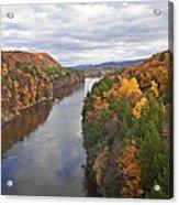 Autumn Foliage Scenery Viewed From French King Bridge Acrylic Print