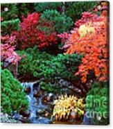 Autumn Garden Waterfall II Acrylic Print
