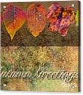 Autumn Greeting Card IIi Acrylic Print