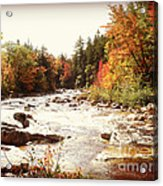Autumn In New Hampshire Acrylic Print by Crystal Joy Photography