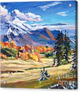 Autumn In The Foothills Acrylic Print