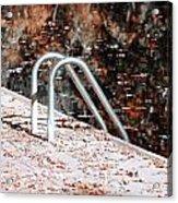 Autumn Ladder Acrylic Print by David Taylor